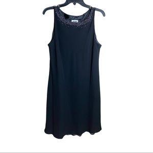 R & M Richards Embellished Sleeveless Sheath Dress